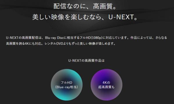 U-NEXT 画質