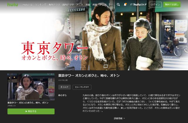 映画 東京タワー オカンとボクと、時々、オトン 無料お試し 視聴
